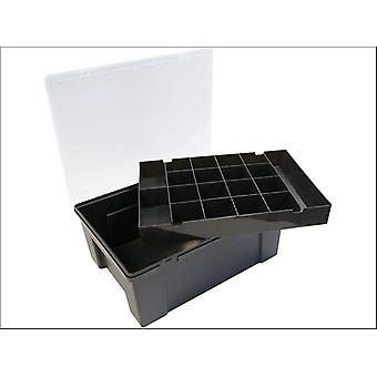 What More Organiser + Removable Tray 38cm 19 Divisions Grey 12945