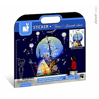Janod Sacred Totum Removable Adhesive 35 Sticker Growth Chart