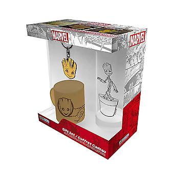 I am Groot Mini Mug Glass and Keyring new Official Marvel Gift Set Boxed