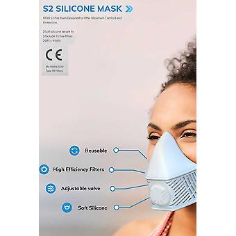 Mask With 10 Replaceable N99 Filters, Home Sterilizable, Blue
