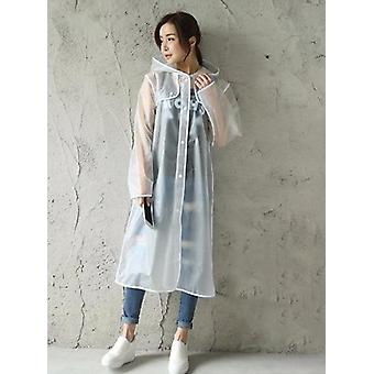 Women's Transparent Eva Plastic Raincoat