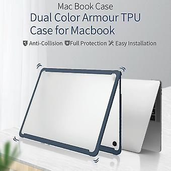 WIWU HP-01 For MacBook Pro 13.3 inch (2018) Armor TPU Frame + PC Protective Case(Black)
