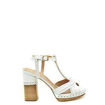 Twin-set Ezbc060292 Women's White Leather Sandals