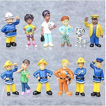Fireman Sam Action Figure, Cute Cartoon Dolls, (white)