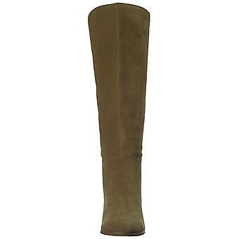 محظوظ العلامة التجارية النساء lanesha جلد اللوز toe الركبة أحذية الموضة الراقية