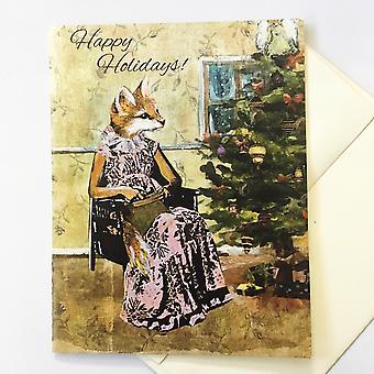 Christmas Fox Holiday Card Or Card Set