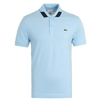Lacoste Contrast Detailed Collar Sky Blue Polo Shirt