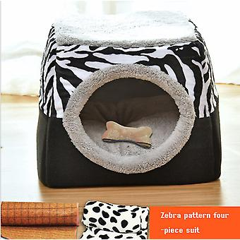 Explosive Cat Litter Winter Warm Enclosed Cat House Villa Cat House Kennel Small Dog Pet Supplies