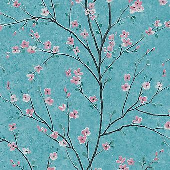 AS CREATION BLOSSOM TREE VINYL WALLPAPER