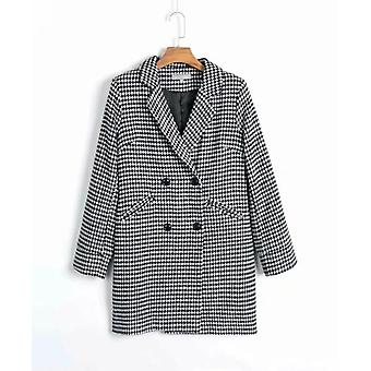 Loose Turn-down Collar Blazer Jacket Coat