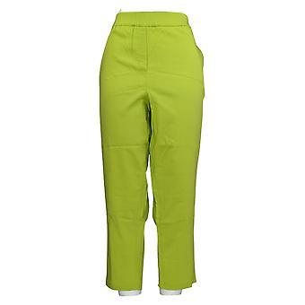 Joan Rivers Women's Petite Pants Slim-Fit Twill Green A373957