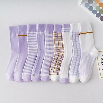 Color Crew Socks Set