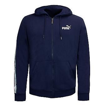Puma Męskie Taśmy Pełna bluza z kapturem Na zamek błyskawiczny Casual Logo Track Top Navy 853356 06