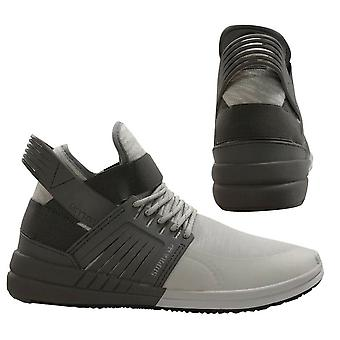 Supra Skytop V Grey Slip On High Top Lace Up Mens Trainers 08032 051 B48E
