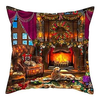 Christmas Style Animals Cushion Cover