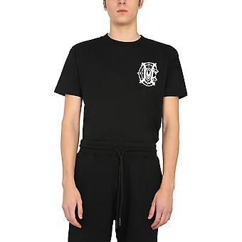 Marcelo Burlon Cmaa018r21jer0051001 Men's Black Cotton T-shirt
