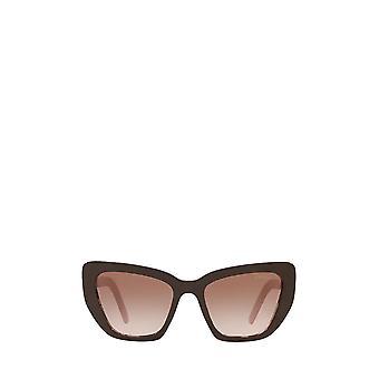 Prada PR 08VS occhiali da sole femminili marroni / rosa maculato