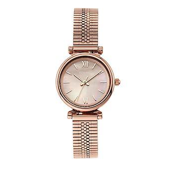 Fossil ES4697 Carlie Mini Tre-hånds Rose Guld-Tone rustfrit stål Kvinders Watch