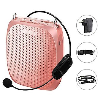 10w Voice Amplifier Uhf Wireless Microphone Ultra Portable Mini Audio Speaker