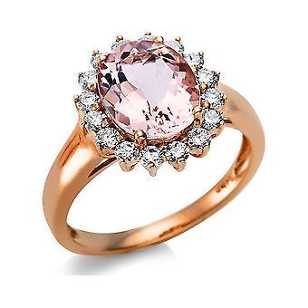 Luna Criação Popularidade Anel De Cor Stone 1L761R454-5 - Largura do anel: 54