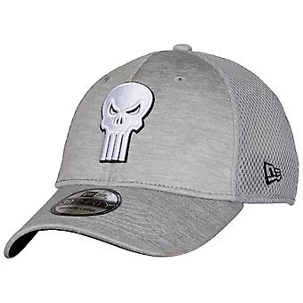Punisher Skull Symbol Grey Shadow Tech New Era 39Thirty Chapeau ajusté
