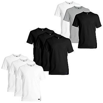 Ted Baker Miesten 2021 3-pakkaus Hengittävä Puuvilla Stretch Crew Neck T-paita