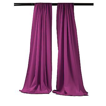 La Linen Pack-2 Polyester Poplin Backdrop Drape 96-Inch Wide By 58-Inch High, Magenta