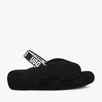 UGG Fab Yeah Ladies Sheepskin Slingback Slippers Black