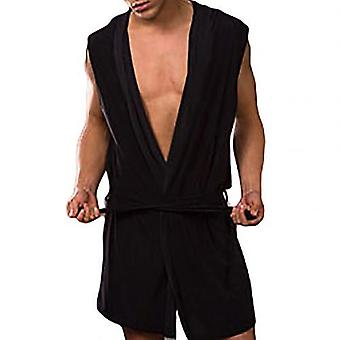 Men Summer Dress Bath Robe Sexy Pajamas Sleepwear