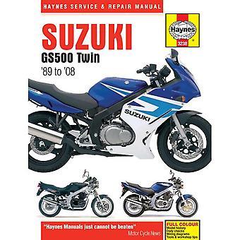 Haynes Repair Manual 3238 Suzuki GS500F K4-K8 GS500 K1-K8 GS500E K-Y 1989-2008