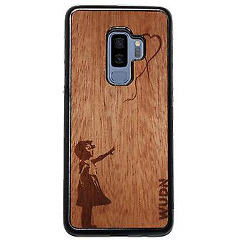 Slim Wooden Phone Case (banksy With A Balloon In Mahogany)