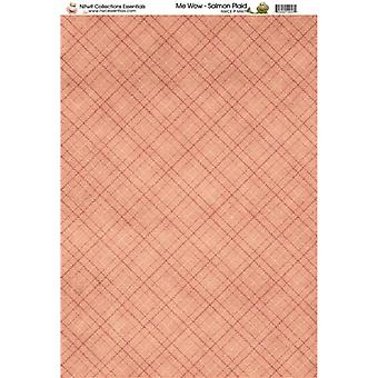 Nitwit Collection - MW Salmon Plaid Paper A4 10 Sheets