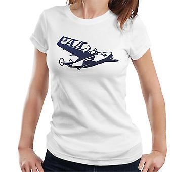 Pan Am Paa Wing Navy Flock Women's T-Shirt