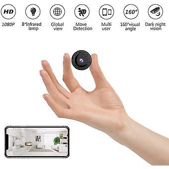 Mini camera, 1080p HD surveillance camera with night vision, wireless multifunction. -black