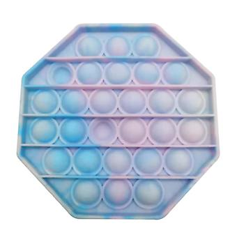 Stuff Certified® Pop It - Washed Fidget Anti Stress Toy Bubble Toy Silicone Octagon Blue-Pink