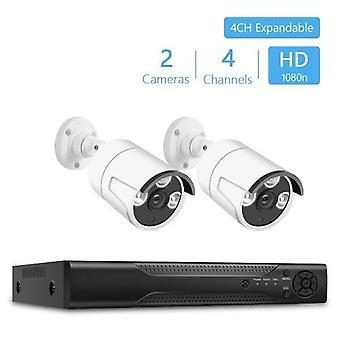 4Channel Digitaalinen Videonauhuri +2kpl 1080P Valkoiset kamerat 3kpl IR-CUT LED-valot