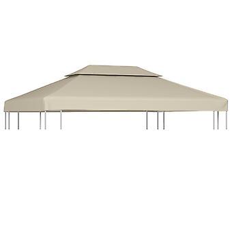 vidaXL سقف سقف القماش المشمع استبدال سقف 310 غرام / متر مربع بيج 3×4 m