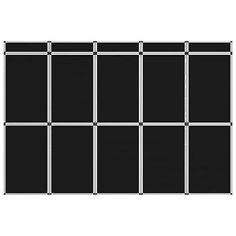 vidaXL 15-Panel Exhibition Wall Folding Display 302×200 cm Black