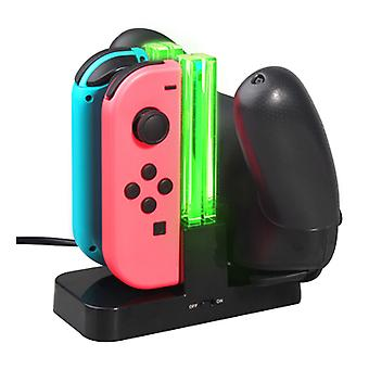4 In1 Oplaaddock - Joycon Controller Led Charger