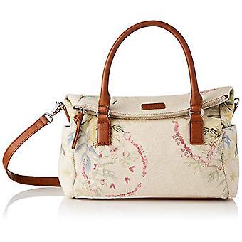 Desigual Fabric Hand Bag. Woman, White, U(2)