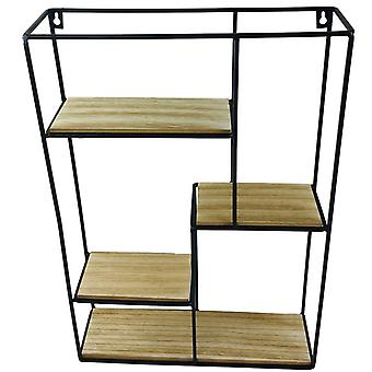 Unité d'affichage multi étagère en bois et fil