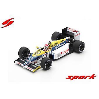 Williams FW11 (Nelson Piquet Ganador Brasil GP 1986) Modelo de Resina