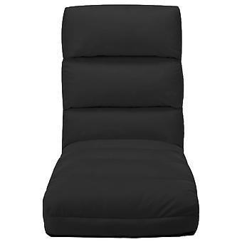 vidaXL chaise pliante en plastique noir en simili-faux