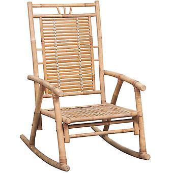 vidaXL schommelstoel met pad bamboe