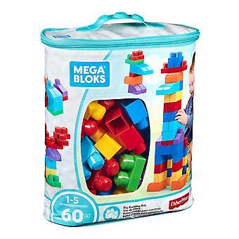 Mega Bloks First Builders Big Building Bag, Blue or Pink, 60 pcs