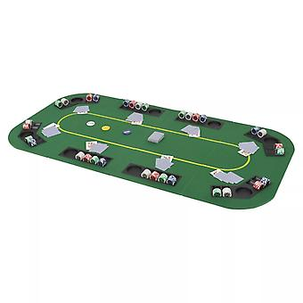 Mesa de poker para 8 jugadores 4-FoldAble Green