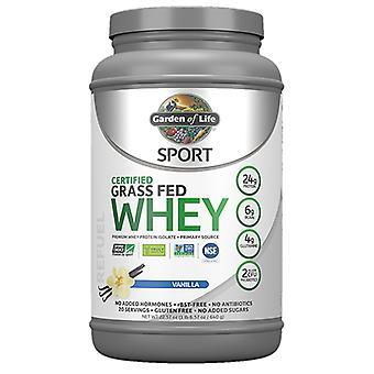 Garden of Life Sport sertifioitu ruoho ruokittu heraproteiini, vanilja 23 Oz