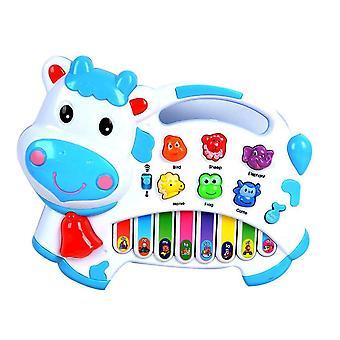 Cartoon Koe Animal Farm Keyboard Piano Baby Piano Muziek Speelgoed