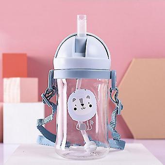 250/350ml Baby Feeding Cup med halmbarn lär sig mata dricka flaska Barn Träningskopp med