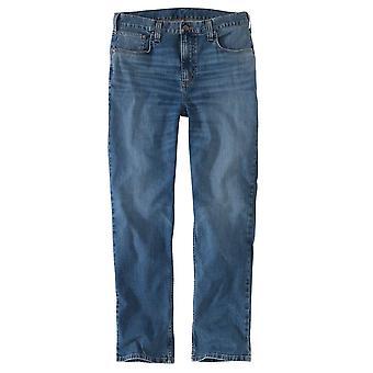 Carhartt Mens Robust Flex Avslappet Passform Koniske Jeans